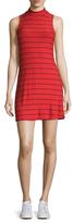 Splendid Mockneck Stripe Dress