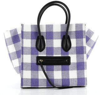 Celine Phantom Bag Woven Gingham Medium