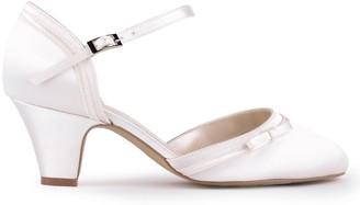 Paradox London Satin 'Arleigh' Mid Heel Two Part Court Shoe