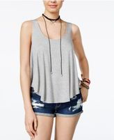 No Comment Juniors' High-Low Swing Tank Top