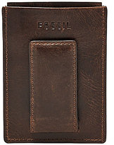 Fossil Derrick Leather RFID-Blocking Magnetic Card Case
