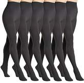 Angelina 6-Pack Super Warm Brushed Interior Thermal Tights, _6_