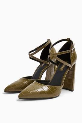 Topshop GRAPE Flare Heeled Shoes