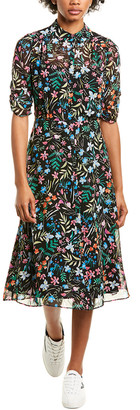 Maggy London Collared Midi Dress