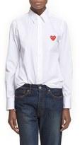 Comme des Garcons Women's Heart Graphic Woven Cotton Shirt