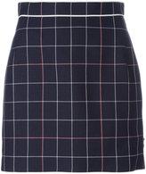 Thom Browne check overlay skirt - women - Silk/Cotton/Wool - 38