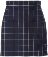 Thom Browne check overlay skirt - women - Silk/Cotton/Wool - 42
