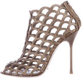 Sergio Rossi Cage Embossed Booties