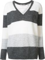 Vince V-neck striped jumper - women - Nylon/Mohair/Wool - L