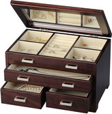 Asstd National Brand Brown Tea 3-Drawer Jewelry Box