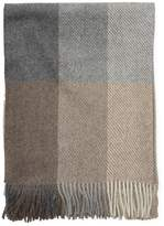 A & R Cashmere Neutral Buffalo Check Throw