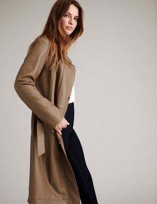 Marks and Spencer Leather Belted Trench Coat