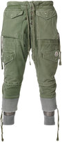 Moncler X Craig Green Moncler x Greg Lauren layered cropped cargo trousers