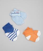Luvable Friends Blue 'I Love Mommy' Socks Set