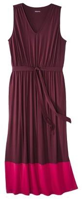 Women's Plus Size Sleeveless Color block Maxi Dress