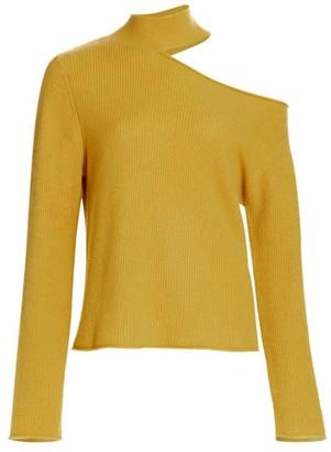 RtA Langley Cashmere Cutout Turtleneck Sweater