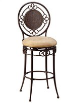 Hillsdale Richland 26-Inch Swivel Counter Stool, Gold Finish with Buckskin Faux-Suede Fabric