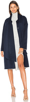 Cacharel Merino Belted Coat in Navy. - size 36/2 (also in )