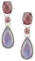 Anne Klein Purple Multi-Stone Drop Earrings