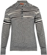Missoni Striped-wool polo shirt