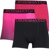 Crosshatch Mens Czapla Three Pack Boxers Black/Beetroot/Beetroot Black
