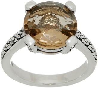 Stephen Dweck Sterling Silver Round Gemstone Ring