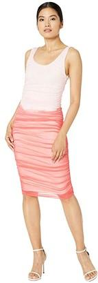 Fuzzi Fitted Degrade Dress (Petalo) Women's Dress