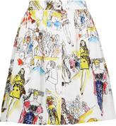 Moschino Printed satin mini skirt