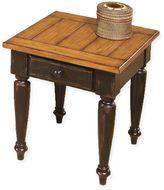 Progressive Furniture Country Vista End Table in Antique Black/Oak