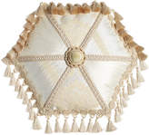 "Dian Austin Couture Home Capello Pieced Tambourine Pillow, 18""Dia."