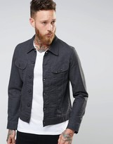 Lee Rider Slim Denim Jacket Atom Gray