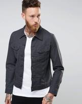 Lee Rider Slim Denim Jacket Atom Grey
