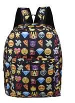 Posher TM FL6 Girls Boys School Backpack Cute Emoji Shoulder Bags