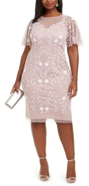 Adrianna Papell Plus Size Beaded Dress