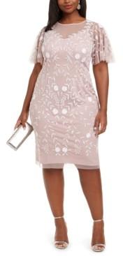 Adrianna Papell Size Beaded Dress