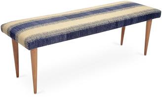 Le-Coterie Le Coterie Adolfo Stripe Kilim Bench - Blue
