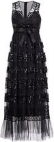 RED Valentino Sequin Tiered Tulle Dress