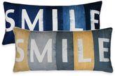 """Thro Smile"""" Printed Sign Oblong Throw Pillow"""