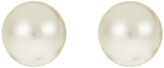 Accessorize Sterling Silver Large Pearl Stud Earrings