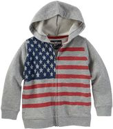 Osh Kosh Boys 4-7x Patriotic American Flag Zip-Front Hoodie