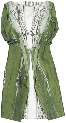 Todd Lynn Green Silk Dress for Women