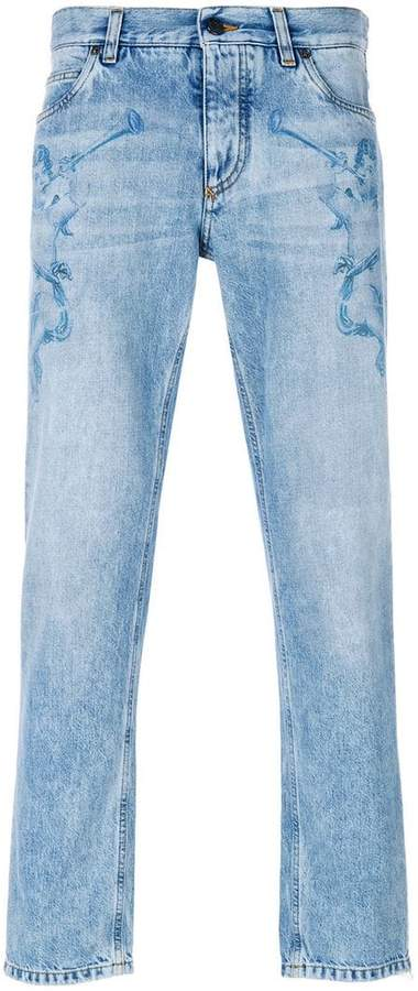 Dolce & Gabbana angel print jeans