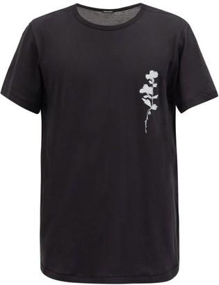 Ann Demeulemeester Poppy-print Cotton T-shirt - Black