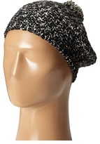 Hat Attack Tweed Knit Beret with Pom