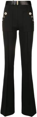 Elisabetta Franchi belted flared trousers