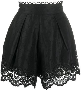 Zimmermann Lace-Hem High Rise Shorts