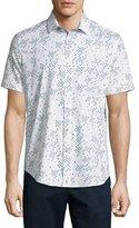 Robert Graham Fly Trim Fit Printed Short-Sleeve Sport Shirt, Multi