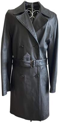 Mulberry Brown Leather Trench coats