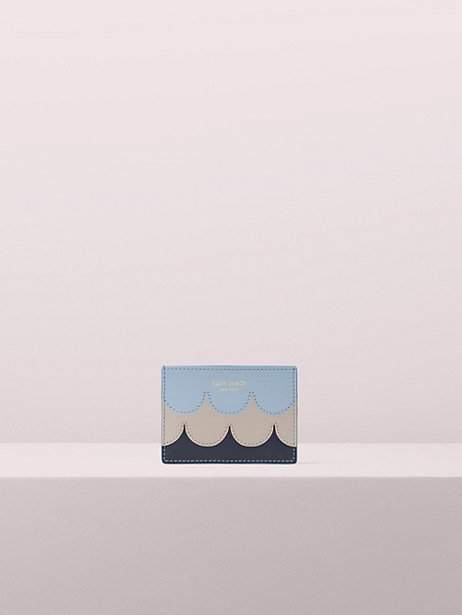 Kate Spade Intarsia Scallop Cardholder, Horizon Blue