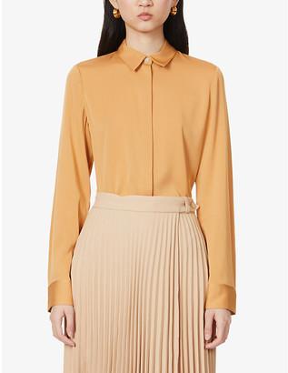 Theory Slim-fit stretch-silk shirt